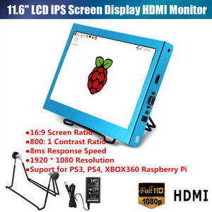 11 6 Inch Hd 1080p Lcd Screen Display Monitor For Raspberry Pi Ps3 Ps4 Xbox Js