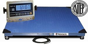 New 5000x1lb 4 x4 digital Pallet Shipping Floor Scale Calibrated W indicatorntep
