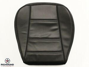 99 04 Ford Mustang V6 Convertible driver Side Bottom Leather Seat Cover Black