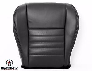 99 04 Mustang Gt driver Bottom Replacement Perforated Leather Seat Cover Black