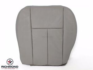 2006 2007 2008 Gmc Envoy Slt Denali driver Side Bottom Leather Seat Cover Gray