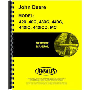 Jd mcrepro New Crawler Service Manual Made To Fit John Deere 40 420 430 4401