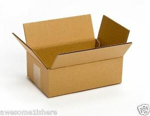 Parcel Delivery Box Small Cardboard 50 Pack 8x6x4 Shipping Mailing Moving