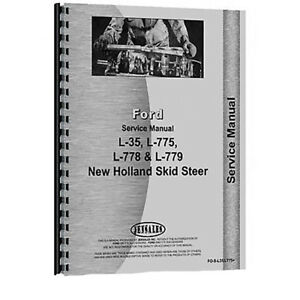 Service Manual For New Holland L778 Skid Steer Loader Chassis Only
