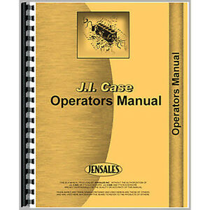 Operators Manual For Case 800 Tractor gas And Lp series