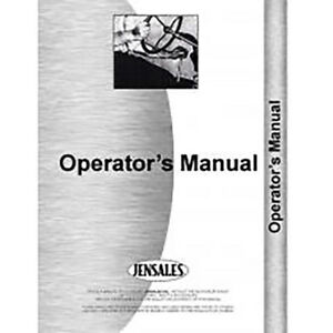 New Minneapolis Moline 500 Foragor Operator s Manual pull type S 296
