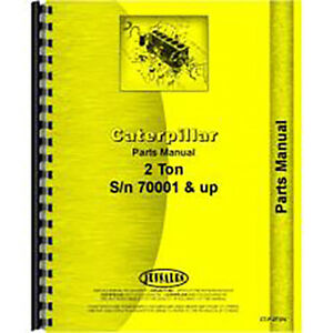 For Caterpillar 2 ton Tractor Parts Manual new