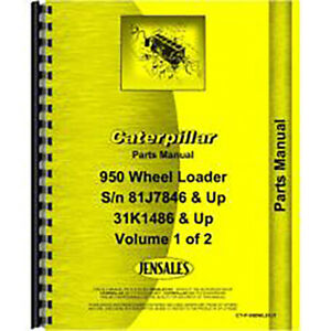 New John Deere 950 Wheel Loader Parts Manual