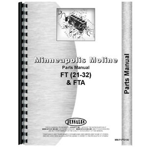 New Minneapolis Moline 21 32 Tractor Parts Manual