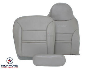 2000 2001 Ford Excursion Limited Driver Side Complete Leather Seat Covers Gray