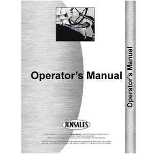 New Minneapolis Moline Uts Tractor Operators Manual w Engine