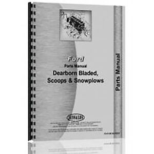 New Dearborn Scoops Blades Snow Plows Tractor Parts Manual fo p db Blades