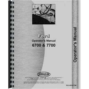 Operators Manual For Ford 7700 Diesel Tractor