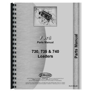 New Ford 735 Tractor Loader Backhoe Parts Manual