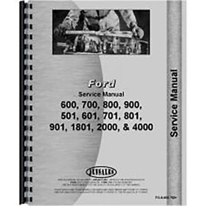 New Ford 800 Tractor Service Manual
