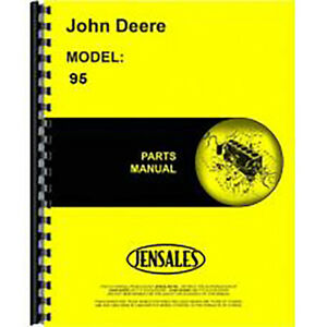 John Deere 95 Combine Parts Manual self Propelled