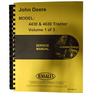 New Service Manual For John Deere 4630 Tractor