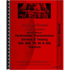 New International Harvester 656 Tractor Service Manual