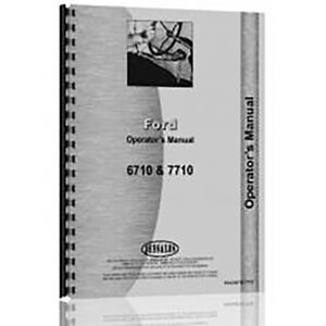 Operator Manual For Ford 6710 Diesel Tractor