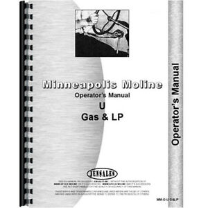New Minneapolis Moline U Gas And Lp s158 Tractor Operator s Manual