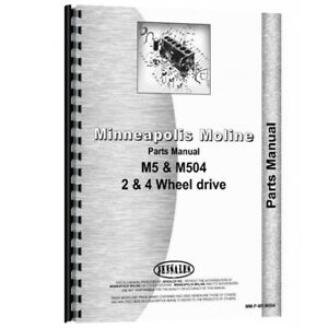 New Minneapolis Moline M5 Tractor Parts Manual
