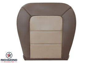 2004 Ford Explorer Sport Trac driver Side Bottom Leather Seat Cover 2 tone Tan