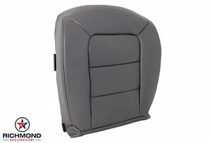 2001 2002 Ford Explorer Sport Trac driver Side Bottom Leather Seat Cover Gray