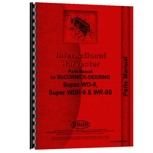New Mccormick Deering Wr9s Tractor Parts Manual