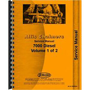 New Service Manual Made For Allis Chalmers Ac Tractor Model 7000