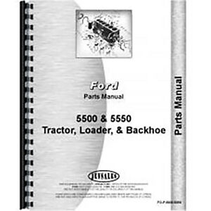 Parts Manual For Ford 5550 gas And Diesel industrial Tractor Loader Backhoe