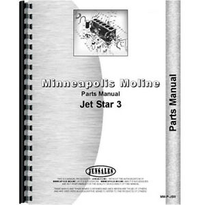 New Parts Manual Made For Minneapolis Moline Tractor Model Jet Star Iii