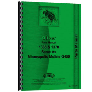 New Parts Manual Made For Minneapolis Moline Tractor Model G450