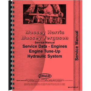 New Massey Harris 33 Row crop Tractor Engine Service Manual