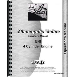 New Minneapolis Moline Uni Tractor Operators Manual all Brown