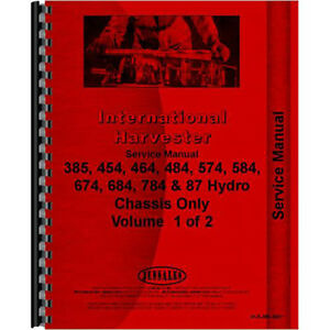 New International Harvester 584 Tractor Chassis Only Service Manual