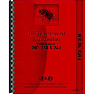 New International Harvester 230 Tractor Parts Manual