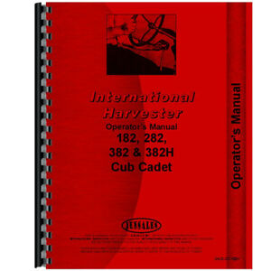 New Tractor Operators Manual For International Harvester Cub Cadet 182 Tractor