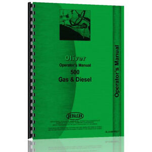 Oliver 500 Tractor Operator Manual ol o 500 Erly