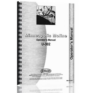 New Minneapolis Moline U302 s356 Gas And Lp Tractor Operator s Manual