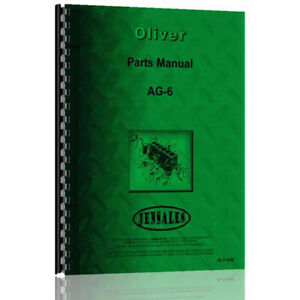 New Oliver Cletrac Ag 6 Crawler Parts Manual