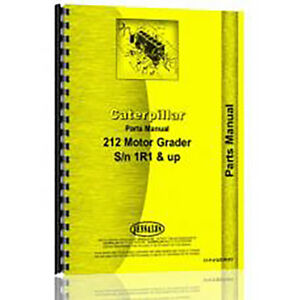 For Caterpillar Grader 212 1r1 And Up Parts Manual new