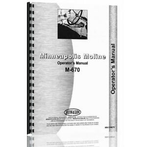 New Minneapolis Moline M670 Tractor Operator Manual mm o m670
