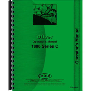 Aftermarket Tractor Operators Manual For Cockshutt oliver 1800 C