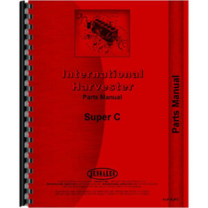 Farmall C Tractor Parts Manual 1951 To 1954