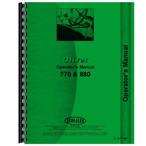 New Oliver 770 Tractor Operators Manual Row Crop Industrial Orchard
