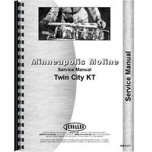 New Minneapolis Moline Kt Tractor Service Manual