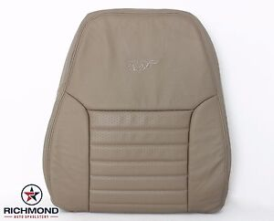 2000 Ford Mustang Gt V8 Driver Side Lean Back Perforated Leather Seat Cover Tan
