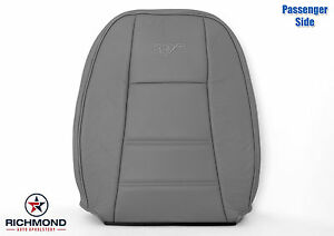 2000 2001 2002 2003 Ford Mustang V6 Passenger Lean Back Leather Seat Cover Gray