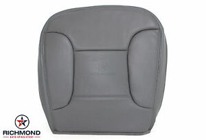 1996 Ford Bronco Eddie Bauer 4x4 2wd Driver Side Bottom Leather Seat Cover Gray