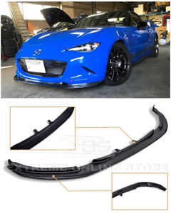 For 15 Up Mazda Miata Mx 5 Jdm Leg Sport Style Primer Black Front Lip Splitter